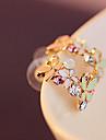 Pentru femei Cercei Stud Design Basic La modă Plin de Culoare costum de bijuterii Ștras Aliaj Flower Shape Bijuterii Pentru Nuntă