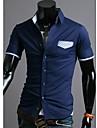 Bărbați Pocket Contrast culoare Casual maneca scurta Tricou