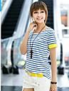 Pentru femei de moda de agrement Stripe bumbac T-shirt
