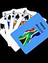 Motif Drapeau de l\'Afrique du Sud Bleu cadeau personnalise Carte de jeu