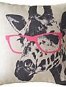 Lovely Tecknad Handtryckt Griaffe ansikte Dekorativa Kuddfodral