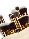 10pcs Makeupborstar Professionell Borstsatser / Rougeborste / Ögonskuggsborste Nylonborste Bärbar / Resan / Miljövänlig Trä Mellanborste
