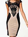 Yiya femei gât Sexy Bandaje Dress