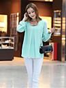 Femei New maneca lunga șifon Plus Size Bluza