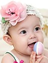 Copii Top Cute Baby Girl Copii Pink Flower Princess Lotus par Band Benzi