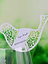 Carduri loc și deținătorii cu laser tăiat pasăre formă de card loc pentru sticla de vin - set de 12