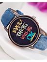 pentru Doamne Ceas La Modă Ceas de Mână Quartz PU Bandă Ceas Global Albastru Verde Yellow Galben Verde Albastru