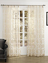 Sheer Curtains Shades Bedroom Polyester Jacquard