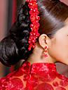 ストーン&クリスタル ファブリック クリスタル  -  ティアラ ヘッドピース 1 結婚式 パーティー/フォーマル かぶと