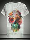 Pentru bărbați de vară Print mâneci scurte T-shirt