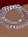 vilin kvinnors silver halsband bröllopsfest elegant feminin stil