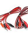 Banana Plug till Alligator Clip Test Probe Cable - Röd + Svart (2PCS / 1,2 m)