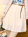 elastic talie înaltă sifon fusta plisata femei yifanyigui lui