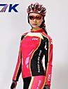Mysenlan Dam Långärmad Cykeltröja och tights - Röd Cykel Klädesset, Håller värmen, Snabb tork, UV-Resistent, Andningsfunktion