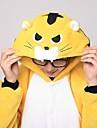 Kigurumi Pijamale Tigru Leotard/Onesie Papuci Festival/Sărbătoare Sleepwear Pentru Animale Halloween Peteci Coral Fleece Kigurumi Pentru