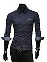 VSKA bărbați Dot Print Contrast culoare Leisure Bleumarin Shirt