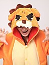 Kigurumi-pyjamas Lejon Onesie-pyjamas Kostym Korallfleece Orange Cosplay För Vuxna Pyjamas med djur Tecknad serie halloween Festival /
