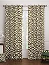 Două Panouri Tratamentul fereastră Modern , Jacquard Dormitor Bumbac Material perdele, draperii Pagina de decorare