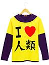 Inspirerad av Inget spel inget liv Cosplay Animé Cosplay-kostymer cosplay Pull Tryck Långärmad T-shirt Till Herr