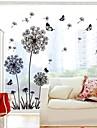 Doudouwo ® Botanică Dandelion stil masiv si Butterfly Wall Stickers