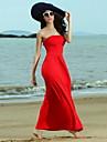 Femei Dear Lover Slow Dance fara bretele Red Maxi rochie de seară