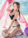 Pentru femei Bikini - Imprimeu, Culoare solidă