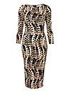 Monta sexy slim fit peste rochie de șold în leopard