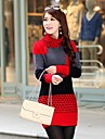 Women's  With Thick Long Sweater Render Unlined Upper Sweaters