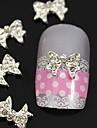 10pcs 3d et accessoires de bricolage en alliage de strass bowknot pour le bout des doigts nail art décoration