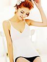 Women\'S Ultra Wireless Elastic Sexy V-Neck Waist Sexy Slim Basic Shoulder Strap Low-Cut Vest White NY004
