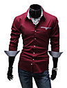 LangTuo Slim maneca lunga Shirt (Wine)