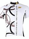 ILPALADINO Homme Manches Courtes Maillot de Cyclisme - Blanc Velo Maillot, Sechage rapide, Resistant aux ultraviolets, Respirable