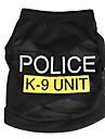 Chat Chien Tee-shirt Vetements pour Chien Police/Militaire Noir Bleu Rose Terylene Costume Pour les animaux domestiques Homme Femme