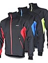 Arsuxeo Veste de Cyclisme Homme Velo Veste Anorak fleece / Polaires Hauts/Top Garder au chaud Pare-vent Design Anatomique Doublure