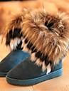 Pantofi pentru femei - Piele de Căprioară - Toc Plat - Cizme Zăpadă - Cizme - Casual - Negru / Albastru / Galbem