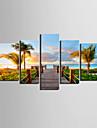 Toiles d\'art Coastal Vues Paysage Ensemble de 5