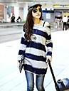 """pulover femei zian® """", plus dimensiuni dungi lung T-shirt"""