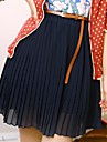 sifon plisat de mare talie fusta mini femeilor