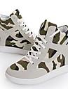 Pantofi pentru femei - Pânză - Toc Pană - Confortabili / Vârf Rotund - Teniși la Modă - Casual - Negru / Bej