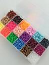 environ 5400pcs 18 mixtes perles de couleur fusible 5mm mis perles hama bricolage puzzle eva materiau securite pour les enfants (ensemble b,