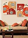 personalizate panza art print flori ostentative 45x45cm 55x55cm Pictura panza încadrată set de 2
