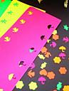 5 autocolante de culoare hârtie pentru pumn (5 buc)