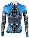 ILPALADINO Maillot de Cyclisme Femme Manches Longues Velo Maillot Hauts/Tops Sechage rapide Respirable 100 % Polyester Rayure Mode