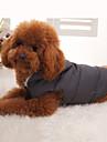 Hund Kappor Huvtröjor Väst Dunjackor Hundkläder Enfärgad Svart Cotton Ner Päls Kostym För husdjur Vinter Herr Dam Håller värmen Sport