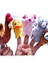 Kyckling Anka Hundar Gris Fingerdockor Hand- och fingerdockor Söt Originella Vackert Tecknat Vackert Textil Plysh Pojkar Flickor