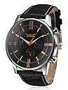 Bărbați Ceas de Mână ceas mecanic Mecanism automat Calendar Piele Bandă Luxos Negru Maro Alb Negru