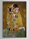 HANDMÅLAD Känd Människor Abstrakta porträtt Vertikal, Klassisk Duk Hang målad oljemålning Hem-dekoration En panel