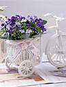 "8 ""h modern multicolor orkidéer i vitt korg cykel"