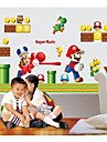 väggdekorationer Väggdekaler, Super Mario Brothers heminredning barnrum pvc väggdekorationer