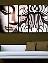 întinsă panza de arta decorativa Buddha set pictura de 5